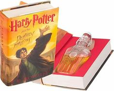 Flask Hollow Book - Harry Potter and the Deathly Hallows by J.K. Rowling Secret Hiding Places, Empty Bottles, Deathly Hallows, One Design, Pick One, Book Publishing, Flask, Magnets, This Book