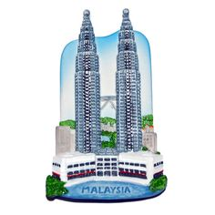 PLACES I'VE BEEN TO'S MAGNET - Resin Fridge Magnet: Malaysia. Kuala Lumpur. Petronas Twin Towers - $6.  http://www.world-wide-gifts.com/souvenirs/00003760-resin-fridge-magnet-malaysia-kuala-lumpur-petronas-twin-towers/