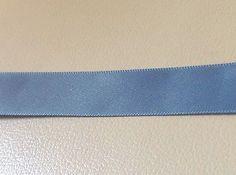 Antique Blue Satin Ribbon 7/8 inch  2 yards
