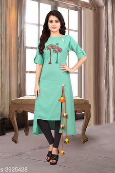 Kurtis & Kurtas Women's Printed Cotton Kurti Fabric: Cotton Sleeves:  Sleeves Are Included  Size: M - 38 in L - 40 in XL - 42 in Length: Up To 48 in Type: Stitched Description: It Has 1 Piece Of Women's Kurtis Work: Printed Country of Origin: India Sizes Available: M, L, XL, XXL   Catalog Rating: ★4 (477)  Catalog Name: Free Mask Women'S Printed Cotton Kurtis CatalogID_398421 C74-SC1001 Code: 053-2925428-948