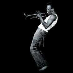 """Sometimes you have to play a long time to be able to play like yourself."" — Miles Davis • Photographed by David Gahr • date unknown • This image was used as a cover photo for Davis' album, A Tribute to Jack Johnson"