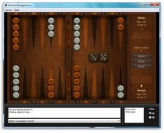 Internet Games Included with Windows 7: Windows 7 Internet Backgammon