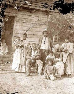Beaufort, South Carolina. Several generations of a slave family, all born on the plantation of J.J. Smith. Taken in 1862 by Timothy O'Sullivan.