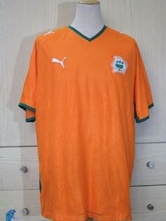 2da303227a4 Ivory coast puma 2007 2009 home world cup 2010 football shirt soccer jersey  xxl