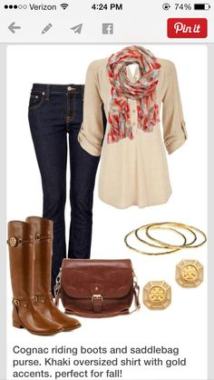 wouldn't wear the scarf but I like this outfit