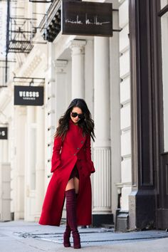 Shades of Wine :: Red long coat
