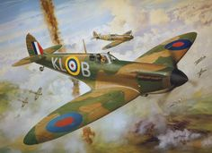Flight Lieutenant Al Deere of 54 Squadron. July after destroying a he… Ww2 Aircraft, Fighter Aircraft, Military Aircraft, Fighter Jets, Spitfire Tattoo, Prinz Eugen, The Spitfires, Airplane Art, Airplane Sketch