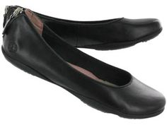 Hush Puppies Womens KRINDLE SKIMMER black leather slip on shoes
