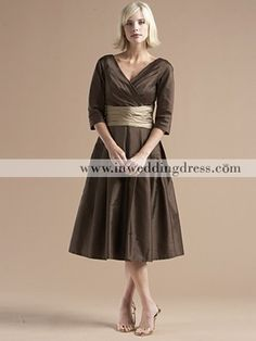 Mother of the Bride Dress - tea length - comes in different colors (wonder if it has pockets??)