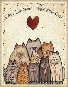 Een leven zonder katten lijkt me inderdaad heel saai!