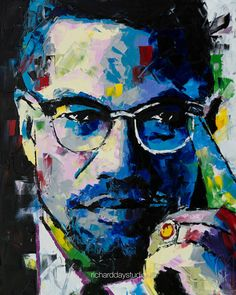 Malcolm X Original Painting 30 38 Worldwide Malcolm X, Abstract Portrait, Portrait Paintings, Painting Abstract, Acrylic Paintings, Art Paintings, Pop Art Wallpaper, Black Artwork, African American History