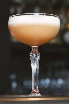 Filibuster - Sazerac Rye, Lemon Juice, Grade B Maple Syrup, Egg White, Angostura Bitters.