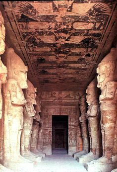 Abu Simbel - temple interior