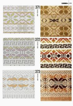 Fair Isle - just one panel of many on this page. Fair Isle Knitting Patterns, Knitting Charts, Knitting Stitches, Knitting Designs, Knit Patterns, Knitting Projects, Stitch Patterns, Motif Fair Isle, Fair Isle Chart
