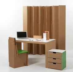 REVISTA DIGITAL APUNTES DE ARQUITECTURA: Muebles de Cartón, para diseñar, cortar, ensamblar y usar. Muchos modelos, imágenes, algunas explicaciones útiles sobre cómo hacerlos.