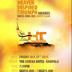 Finally! The HIT AWARDS 2015 are only afew hours away! I will be performing!  And so will many of your favourite Ugandan gospel artists...You dont wanna miss the Biggest Gospel Award Ceremony in Uganda!...Tickets available at the PowerFM offices!