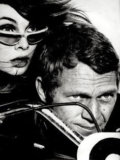 Richard Avedon    Model Jean Shrimpton & actor Steve McQueen, Harper's Bazaar magazine, February, 1965