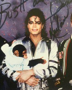 "Michael Jackson and His Pet Chimpanzee ""Bubbles"""