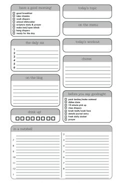 Young Texan Mama Menu Planning Grocery List  A Free Download