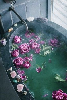 Violet themed baths are our favourite.