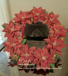 """Made with Stampin' Up! Poinsettia punch """"Reason for the Season"""" bundle"""