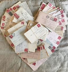 """My dear friend Anne tagged me for this weeks addition of with the theme of """"love❤️ibles"""" and I knew I… Snail Mail Pen Pals, Fun Mail, Going Postal, Book Letters, Handwritten Letters, Love Days, Heart Crafts, Fathers Love, Valentine Day Love"""