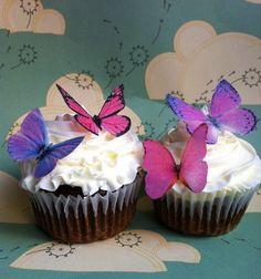 Edible butterflys -  how pretty!