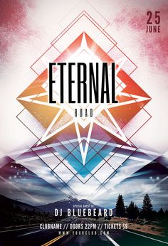 Eternal Road Flyer Template (Buy PSD file $9)