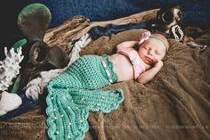 Cute prop on Etsy Newborn Mermaid Photo Prop/ Aqua and Pink Mermaid/ Baby Mermaid/ Crochet Newborn Mermaid