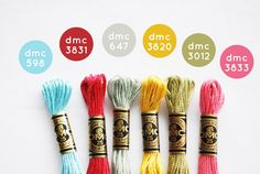 embroidery floss color combo // unforgettable