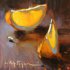 Orange Slices by Elena Katsyura Oil ~ 6 in x 6 in