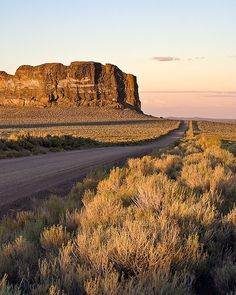 high desert and volcanic area ~ Fort Rock State Natural Area, Oregon. Photo: bnzai9 via Flickr