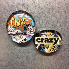 A personal favorite from my Etsy shop https://www.etsy.com/listing/228265821/set-of-two-small-magnets-crazy-chaos