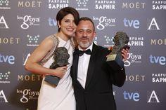 """Premio """"mejor actor protagonista"""". Javier Gutiérrez, por ' la isla mínima'.   Premio """"mejor actriz protagonista"""" Bárbara Lennie, por 'Magical Girl'.  #goya2015 #federopticos #premiados"""