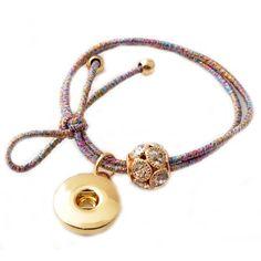 Elastic Beaded Snap Hair Tie or Bracelet: