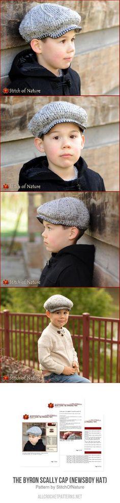 The Byron Scally Cap (Newsboy Hat) Crochet Pattern d0d2d0ee8b52