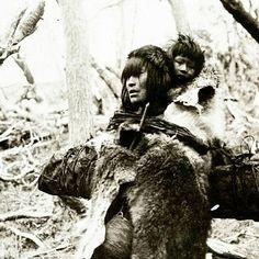 Madre e hijo selk'nam