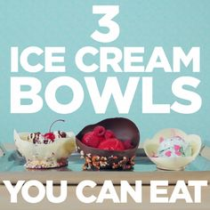 3 DIY Edible Ice Cream Bowls