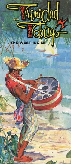 trinidad and tobago - #travel brochure & map - #vintage - west indies from $4.99