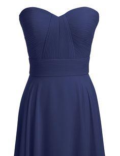 Alicepub Couture A-line Chiffon Bridesmaid Dress Floor Length Prom Evening Gown: Amazon Fashion