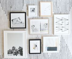 How to Curate Art for a Collage Gallery Wall   Minted Giveaway #theeverygirl