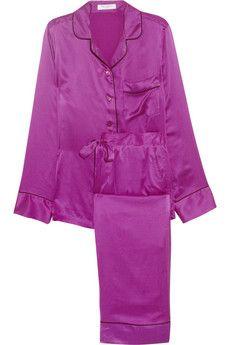 Avery brushed-silk pajama set   net-a-porter