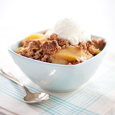Skillet Apple Crisp: This is an exemplary apple crisp—a lush (but not mushy) sweet-tart apple filling covered with truly crisp morsels of buttery, sugary topping.