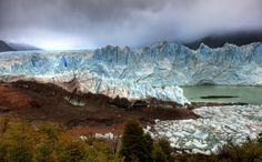 We left while it was still dark to reach this spot by the morning. The glacier is already a deadly blue, but the morning light gets into the nooks and crannies and makes the blue reflect around like an argon laser. - Patagonia, Argentina - Photo from #treyratcliff Trey Ratcliff at http://www.StuckInCustoms.com