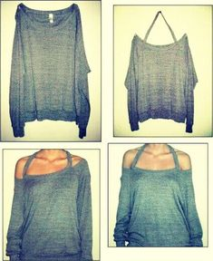 Simple and Easy Off The Shoulder Shirt ^-^!! | followpics.co