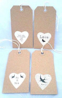 Wedding gift tags - vitage retro gift wrap - black and white - craft christmas - craft fair. $3.20, via Etsy.