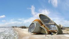Artist Envisions Futuristic Fort-Like Homes Designed to Withstand Hurricanes Dionisio González Architecture for Resistance – Inhabitat - Green Design, Innovation, Architecture, Green Building Futuristic Architecture, Sustainable Architecture, Sustainable Design, Amazing Architecture, Architecture Design, Architecture Wallpaper, Le Corbusier, Bio Design, Architecture Organique