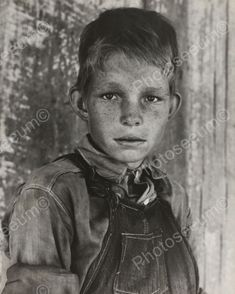 Poor Farm Boy During Depression Vintage 8x10 Reprint Of Old Photo
