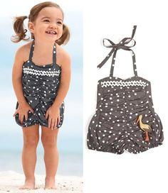 retro swimwear for babes - adorable!