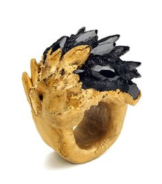 Maud Traon - Spiky Gold and Black Ring
